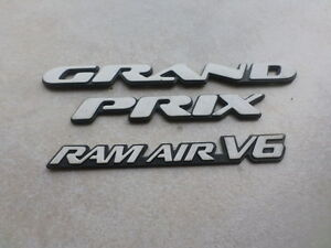 02-05 Pontiac Grand Prix Ram Air V6 Logo Emblem 22622403 Decorative Emblems Set