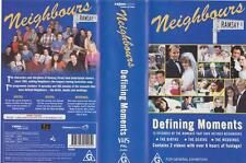 NEIGHBOURS DEFINING MOMENTS  VHS PAL VIDEOS X2 A RARE FIND