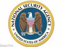 "4"" NATIONAL SECURITY AGENCY NSA HELMET BUMPER EMBLEM DECAL STICKER MADE IN USA"