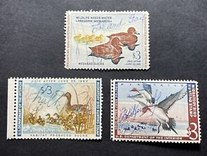 #RW27 RW28 RW29 - 1960 1961 1962 - US Federal Duck Stamp Collection - Signed