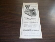 FEBRUARY 1939 LEHIGH VALLEY TRANSIT SYSTEM PUBLIC TIMETABLE
