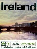TRAVEL TOURISM TRANSPORT IRELAND AIRLINE DUBLIN 30X40CM ART PRINT POSTER BB9988