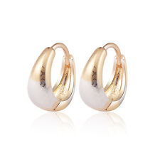 18 k Gold Plated Baby Girl Two Colours Silver Gold Hoops First Earrings E1249