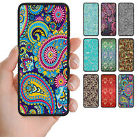 For Samsung Galaxy Series Paisley Print Pattern Mobile Phone Back Case Cover #2