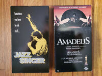 (Lot2) The Jazz Singer 80 Amadeus 84 VHS RARE ORIGINAL HTF OOP! Musical Drama