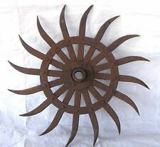 ANTIQUE JOHN DEERE ROTARY HOE CULTIVATOR WHEEL CAST IRON FARM INDUSTRIAL