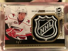 2010-11 THE CUP Jeff Skinner / Morin Dual Shield RC 1/1 Patch Rookie