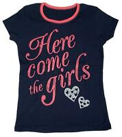 Girls Here Come the Girls Hearts Summer Cotton T-Shirt Dance Top 4 to 14 Years