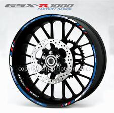 Suzuki GSX-R 1000 wheel decals stickers set gsxr1000 rim stripes gsxr Laminated