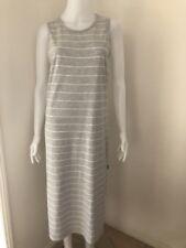 Bonds Women's Sleeveless Grey And white Striped Maxi Dress Size Small