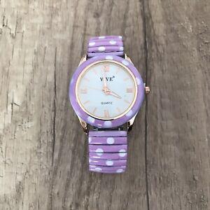 🌸Vive Armband Uhr Edelstahl Flexband Quartz Stretch Neu🌸