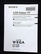 Operation Manual ★ SONY Colour TV KLV-17HR2 ★ KLV-15SR2 • RUSSIAN & POLISH Vers.