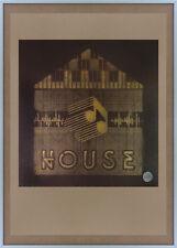 Firmado Serigrafía carrete a carrete Music Box Acid House Ron Hardy Casa artes gráficas