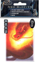Card Supplies - Max Neo DECK PROTECTORS - INFERNO (50 pack - Standard Size) -New