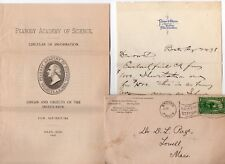 Vintage 1898 Science Associations Paper Lot - Boston Museum of Fine Arts etc...