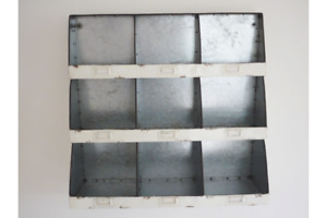 Vintage Industrial Metal Wall Open Shelving Storage Idea