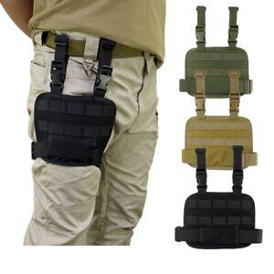 MOLLE Tactical Drop Leg Platform Multifunction Thigh Rig Panel Adjustable Belt
