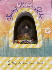 "Easter Spring Water Globe Musical "" Easter Parade"" Egg Shaped In Original Box"