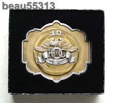 """NEW""  HARLEY DAVIDSON OWNERS GROUP 10th 1983-1993 ANNIVERSARY HOG BELT BUCKLE"