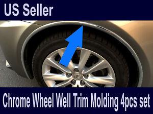 For Chevy2006-2019 Models - Set of 4 Chrome Fender Wheel Well Trim Molding