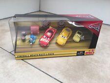 DISNEY Cars Diecast-Cars 3 Palla di Fuoco Beach RACE 4-Pack-SANDY Cruz Ramirez