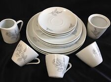 Bavaria Germany China Roses 3-4 Piece Dinnerware Set W/Creamer Sugar Bowl Lot 14