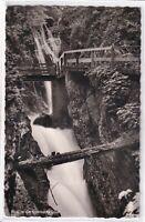 Ansichtskarte Ramsau/Berchtesgaden - Blick in die Wimbachklamm - schwarz/weiß