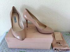 PRADA VERNICE Basic Patent Nude Pumps Heels Stiletto Shoes EUC 40 Worn Once $675