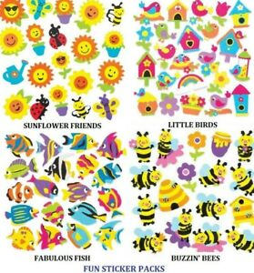 Fun Stickers Insects Flowers Birds Bees + More Children's Crafts Art Card Making