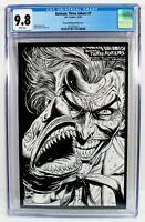 BATMAN THREE JOKERS #1 2nd Print CGC 9.8 1:25 Incentive B&W Shark Sketch Variant