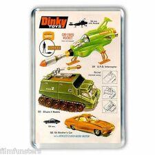 RETRO TV NOSTALGIA -  UFO SHADO DINKY TOYS ADVERT - JUMBO FRIDGE MAGNET