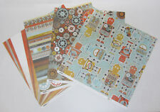 "8 Kaisercraft Double Sided K-Bots Scrapbooking Paper 12""x12"" Card Making & Craft"