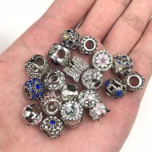 5X10X Mixed Crystal/Rhinestone Big Hole Spacer Beads For European Charm Bracelet