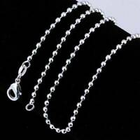 """925 Silver Solid Silver Fashion Jewelry 2.4MM  Snake Chain Necklace 16/""""-24/"""" HX15"""