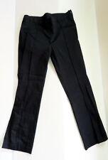 NWT $228 CARA LOTTI France Stretchy Formfit Black Audrey Crop Ankle Pants 42 8