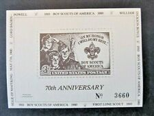 Us, Private Printing, Boy Scouts 70th Anniversary, Souvenir Card (1980) Mint