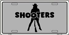 Shooters Funny Hooters Gun Novelty License Plate Auto Tag Sign