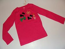 Gymboree Cheery All The Way Girls Size 4 Top Dog Puppy Scottie Snow NEW NWT