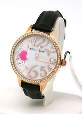 Betsey Johnson Women's Heart Motif Rose Gold Tone Watch BJ00658-02BX, New