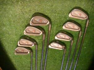 PING EYE 2 Square Groove LADIES iron set 2-9+SW RED Dot ZZ LITE Shafts