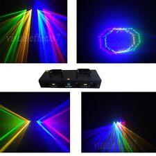 DMX DJ Disco Stage Laser Light Party Laser Lighting 4 Lens 800mW RGYB