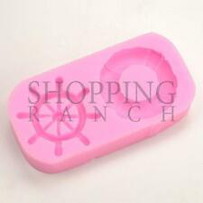 Life Saver Ring & Boats Wheel Silicone Mould Summer Cupcake Cake Topper Mold