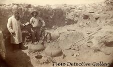 Archaeologists in Ruins of Cliff Dwellings, Arizona c1880 - Historic Photo Print