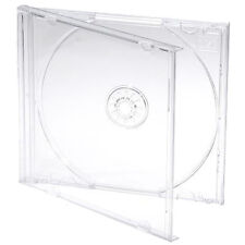 10 X Single CD Jewel Case Cases 10mm 10.4mm Clear Tray HIGHEST QUALITY PLASTIC