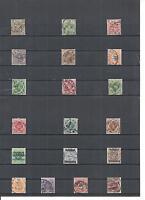 Württemberg 1900, Einzelmarken aus Michelnrn.: aus 46 - 270 o, gestempelt o