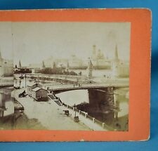 Scarce 1870s Russian Stereoview Photo Kremlin & Moskva River Моско́вский Кремль