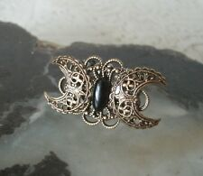 Triple Moon Ring obsidian wiccan pagan wicca witch witchcraft goddess gothic
