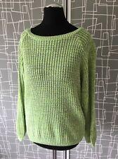 Miss Selfridge Vert Fluo Crochet Tricot Pull Sweater Top 6 souple Noël