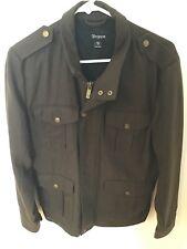 Men's Brixton Jacket Brown Polyester Wool Size S