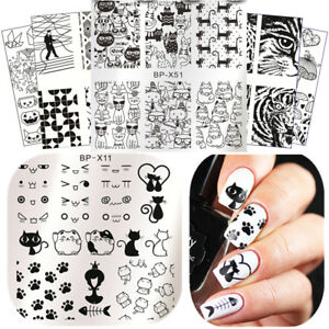 Nail Stamping Plates Animal Flower Nail Art Image Template Stencil Born Pretty